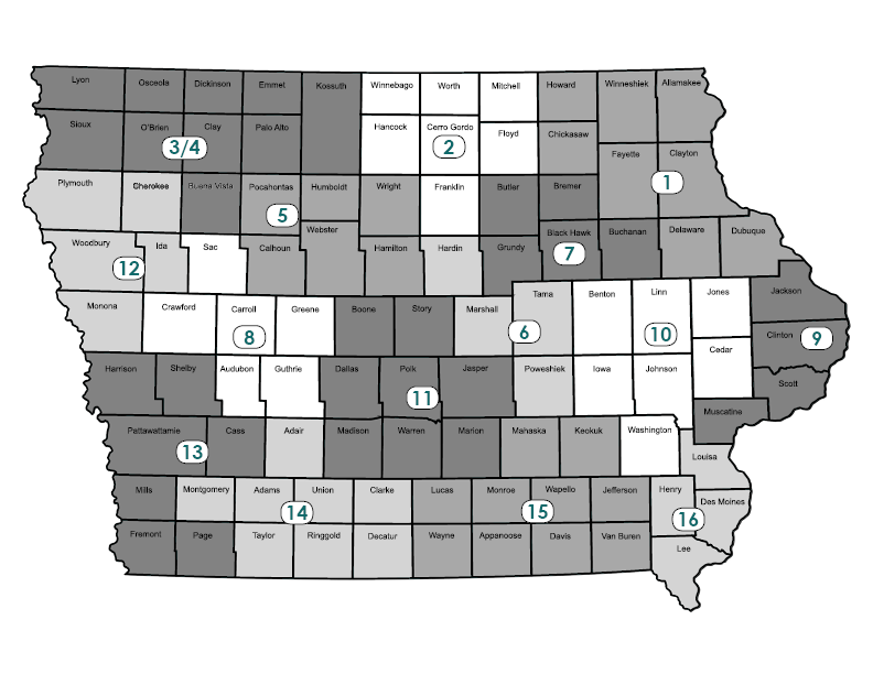 map of iowa workforce board regions